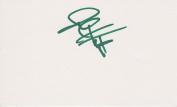 John Huston Autographed 3X5 Card - Golfer