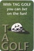 Tag Golf 0001-95 Golfing Card Game