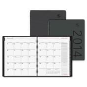At-A-Glance AAG70260X05 Desk Monthly Appt Book Textured 2PPM 23cm . x 28cm . Black