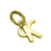 18ct Gold Dipped Sterling Silver Script Letter Charm A- Z