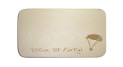 """'Sticky Jam Breakfast Board """"'"""" Hang Glider 01 with Persons Engraving/Breakfast Board Breakfast Plate Paragliding Parachute"""