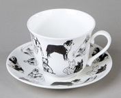 Roy Kirkham - Boundless Dogs - Breakfast Cup and Saucer