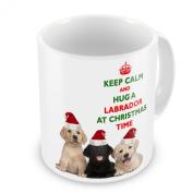 Keep Calm And Hug A Labrador At Christmas / Xmas / Festive Novelty Gift Mug