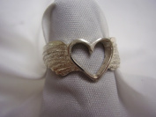 Hotrod Rocks HRR-015R Ladies Winged Heart Ring Size 6