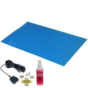 Desco 66040 Statfree T2 Rubber Mat Blue