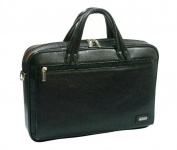 K-Cliffs Full Grain Leather Executive Portfolio 15.5 x 28cm x 7.6cm . Black