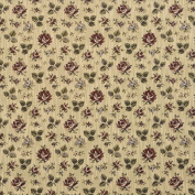 Designer Fabrics F906 140cm . Wide Burgundy Green And Blue Floral Tapestry Upholstery Fabric