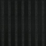 Designer Fabrics G347 140cm . Wide Black Metallic Striped Wood Upholstery Faux Leather