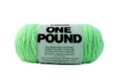 Caron Pale Green Acrylic Dryable Machine Washable Yarn 812 Yd.