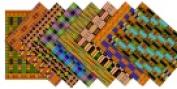 Roylco 22cm x 28cm . African Textile Paper Assorted Colour Pack - 32