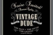 Creative Converting 895567 Vintage Dude - Invitation Gatefold - Case of 48