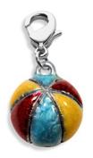 Whimsical Gifts 2875S Beach Ball Charm Dangle Silver