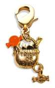 Whimsical Gifts 3022G Trick or Treat Charm Dangle Gold