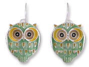 Zarah 21-23-Z1 Baby Hoot Silver Plate Earrings