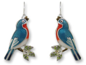 Zarah 32-10-Z1 Singing Bluebird Ultrafine Silver Plate Earrings