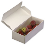 Deluxe Small Business Sales 291-070401-9 7.25 x 12cm x 4.4cm . One-Piece Candy Boxes White
