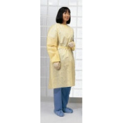 Cardinal Health 1100PG Universal Size Spunbonded Polypropylene Isolation Gowns With Ties Yellow - 10 Per Bag