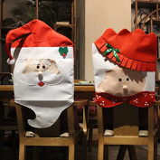 Mr & Mrs Santa Claus Christmas Chair Covers