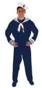 Adults Mens Blue White Navy Sailor Fancy Dress Costume