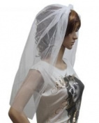 Womens Ladies White Veil On Hair Band Wedding Hen Party Fancy Dress Costumes Accessories