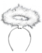 White Halo Angel on Hairband Christmas Accessory