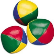 3 Classic Juggling Balls Faux Leather Ball Filled Stitched