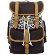 Harvest RT101 Brown Printed Canvas Computer Daypack fits 38cm . Laptop