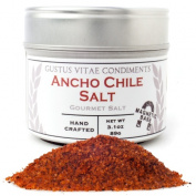 Gustus Vitae 90ml Ancho Chile Sea Salt In Magnetic Tins - Pack 4