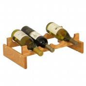 Wooden Mallet WR41LO 4 Bottle Dakota Wine Rack