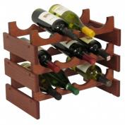 Wooden Mallet WR43MH 12 Bottle Dakota Wine Rack