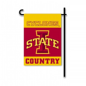 BSI Products 83222 Ncaa Iowa State Cyclones 2-Sided Country Garden Flag