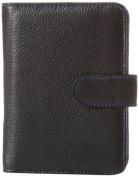 Travelon 319167 Leather Safe ID Colour Block Bi-Fold Tab Wallet Black