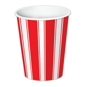 Beistle 58221 Red & White Stripes Beverage Cups Pack Of 12