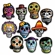 Beistle Company 00936 Mini Day Of The Dead Cutouts - Pack of 24
