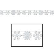 Beistle 20847 Glittered Snowflake Streamer - Case of 12