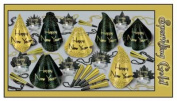 Beistle 88565-50 - Sparkling Gold Party Assortment For 50