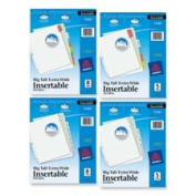 Avery AVE11220 Extra Wide Insertable Dividers11 in. x 23cm .5TabMulti - WE Paper