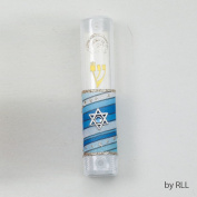 Decorated Acrylic Mezuzah with Star D3.5