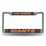 Rico Industries RIC-FCGL6301 San Francisco Giants MLB Bling Glitter Chrome Licence Plate Frame