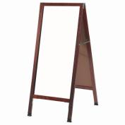 AARCO Products A-35 Solid Oak Wood A-Frame Sidewalk White Melamine Markerboard