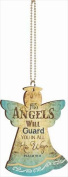 P. Graham Dunn 120198 Car Charm Angel His Angels Will Guard You With Chain 2.75 x 4