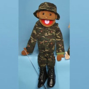 Sunny Toys GS4635 70cm . Ethnic Boy In Army Uniform Full Body Puppet