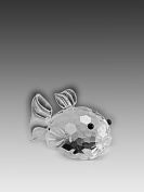 Asfour Crystal 950-27 1.96 L x 1.22 H in. Crystal Fish Sea Figurines