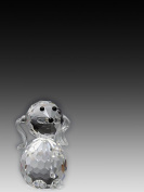 Asfour Crystal 651-27 1.77 L x 1.96 H in. Crystal Dog Animals Figurines