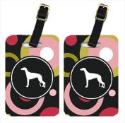 Carolines Treasures KJ1037BT Greyhound Luggage Tags - Pair Of 2