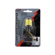 Bulk Buys Light bulb converter with switch Case Of 24