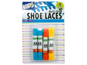 Kids coloured shoelaces - Case of 12