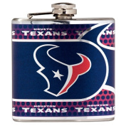Great American Products 44563 Houston Texans Stainless Steel 180ml Flask with Metallic Graphics