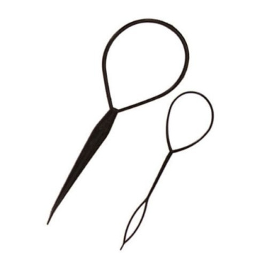 Black Topsy Tail Hair Braid Ponytail Maker Styling Tool