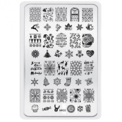 Tonsee® Christmas Pattern DIY Nail Art Image Stamp Stamping Plates Manicure Template